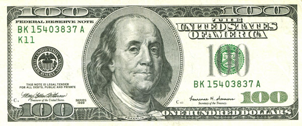 american 100 dollar bill back. new 100 dollar bill back. $100